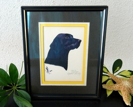 Vintage black labrador retriever lab dog limited edition print 1983 thumb200