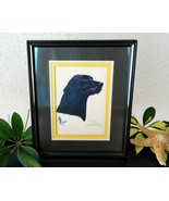 Vintage Black Labrador Retriever Lab Dog Limited Edition Print 1983 - $29.95