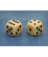 Basic 16mm Six-sided Die (Ivory) - $0.55