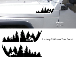 Set of WRANGLER Jeep TJ Extended Hood Forest Tree Decal Set.  - $19.99