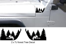Set of WRANGLER Jeep TJ Hood Forest Tree Decal Set.  - $12.99