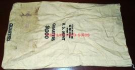 Canvas Coin/Money Bag~U.S. Mint~$1000 - Quarters~Obsolete - $10.00