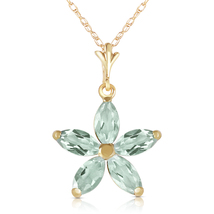 1.4 Ct 14k Solid Yellow Gold One Rainy Day Green Amethyst Necklace - $200.18 - $239.17
