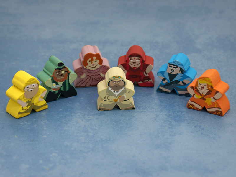 Custom Stuff and Nonsense Meeple Set (7 figures)