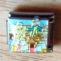 Pugster Jesus sermon scene 9mm stainless steel italian charm bracelet li... - $3.99