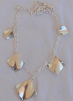 Shiny elegant silver necklace - $67.00
