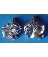 Vintage Mens Jewelry Gold Tone Lion Cuff Links Fancy Dress Cufflinks Lio... - $29.99