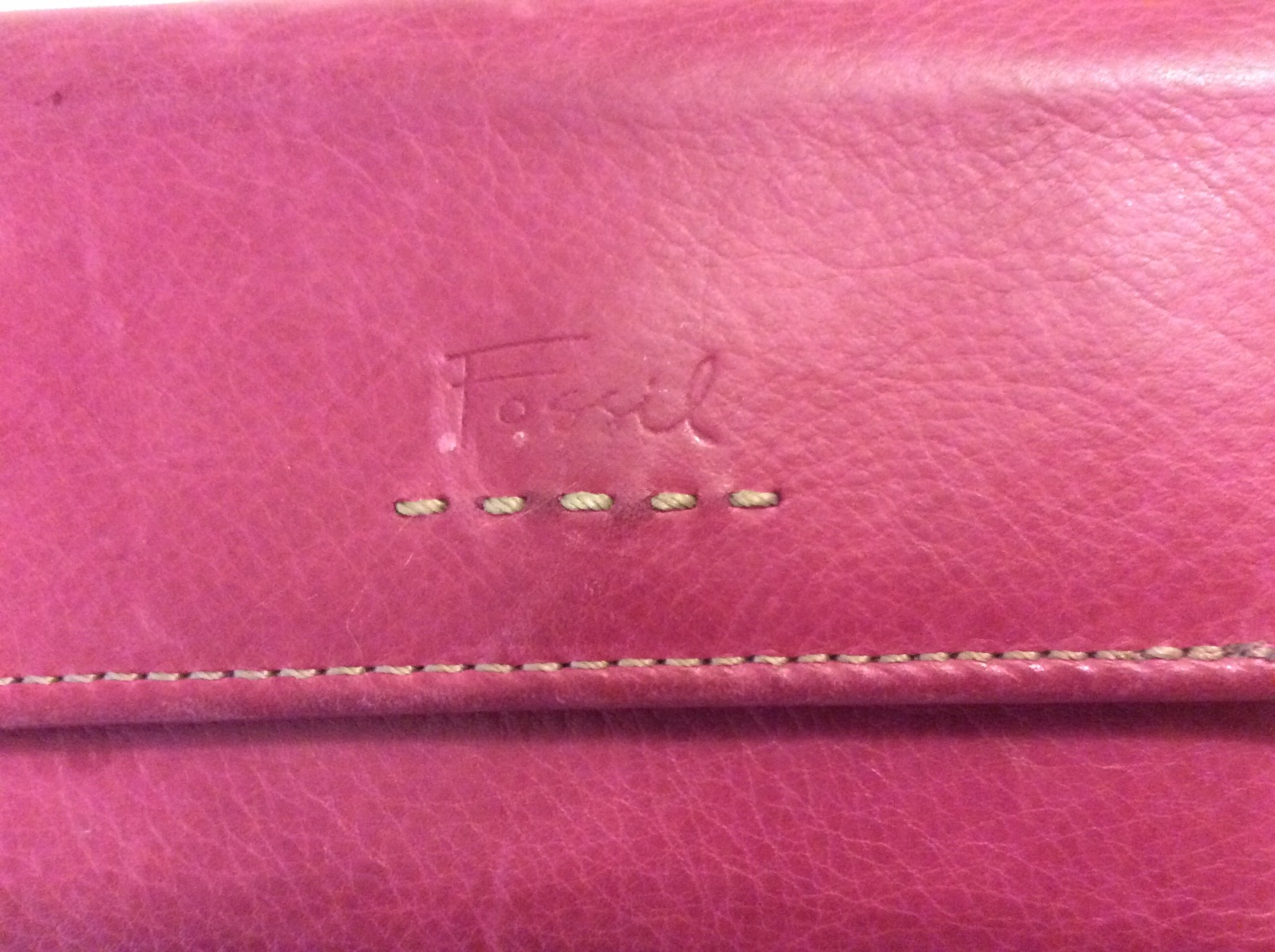 Fossil Folding Wallet Pink Leather