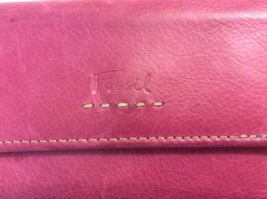 Fossil Folding Wallet Pink Leather  image 2