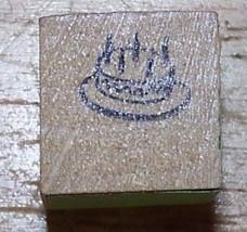 Birthday Cake very tiny mini Rubber Stamp bct - $8.69