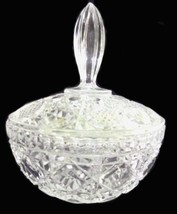 Vintage Clear Crystal Covered Glass Candy Bowl Trinket Jewelry Dish - $29.07