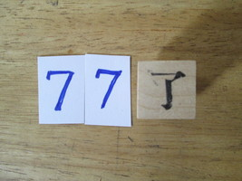 Chinese Character rubber stamp # 77 Understand finish end 77ct - $9.47