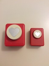 Scrapbook Craft Paper Hole Punch Carl Solid Heart 1 Lg-1 Sm - $16.55