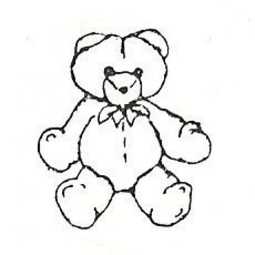 Cute Teddy Bear  Rubber Stamp  made in america free shipping  ab - $13.63