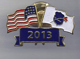 Vintage Jewelry Lapel Pin 2013 Law Enforcement Officers MEMORIAL Rose & ... - $18.99