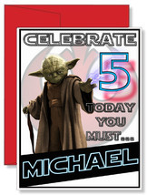 Personalized Star Wars Yoda Birthday Greeting Card *NEW* Full Color HQ - $4.99