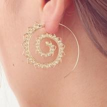 Fashion Vintage Spiral Heart Alloy Dangle Women Earrings - $18.95 CAD+