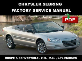 Chrysler Sebring 2001   2006 Oem Factory Service Repair Workshop Manual - $14.95