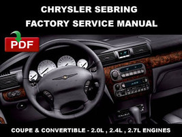 CHRYSLER SEBRING  2001 - 2006 FACTORY OEM SERVICE REPAIR MANUAL + WIRING... - $14.95