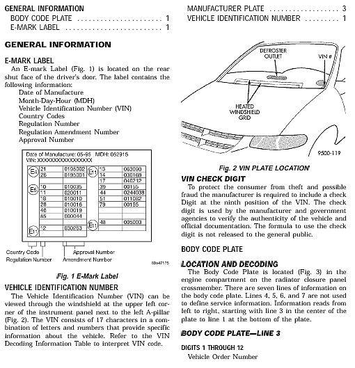 Chrysler Town  U0026 Country 1996 - 2000 Factory Workshop Manual   Wiring Diagram