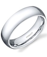 Mens Traditional Cobalt Wedding Band Ring with High Polish Finish - $79.99