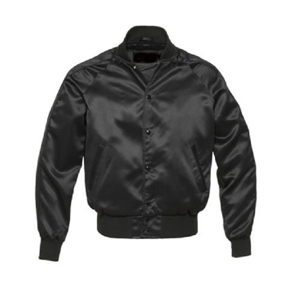 Primary image for New-satin-Varsity-Jacket-with-satin-Sleeves