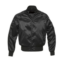 New-satin-Varsity-Jacket-with-satin-Sleeves - $59.00