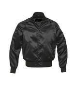 New-satin-Varsity-Jacket-with-satin-Sleeves - $59.00