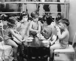 Little Rascals Our Gang Coffee MM39 Vintage 11X14 BW TV Comedy Memorabil... - $12.95