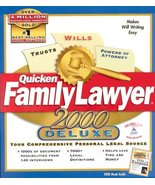 Quicken Family Lawyer 2000 Deluxe [CD-ROM] Windows 95 / Windows 98 / Win... - $13.10