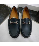 NIB 100% AUTH GUCCI boy navy blue horsebit loafers shoes sz 31 257810 $375 - $156.42