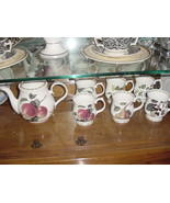 Queen's Collection Hooker's Fruit (England) Teapot and 6 Pedestal Mugs, ... - $99.00