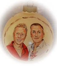 Personalized Wedding Gifts - Gay Wedding Portrait Paintings  Christmas O... - $74.00