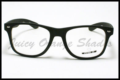 NERDY Retro 80's OLD SCHOOL Classic CLEAR LENS Eyeglasses MATTE YELLOW