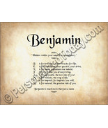 Benjamin Hidden Within Your Name Is A Special S... - $8.95