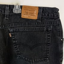 Vintage Levi 545 Jeans Loose Fit Men Sz 42 X 32 Black Tapered Leg USA Made - $39.55