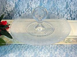 Vintage Paden City Glass #545 Spring Orchard Birds Flowers, Center Handl... - $99.99