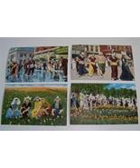 4 vintage Tulip Time Holland MI.Mich.linen postcards - $8.55