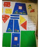 Bean Bag Buddies Tent Pajamas Sleeping bags FABRIC TRADITIONS PANEL Colo... - $6.92