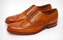 Handmade Mens goodyear Welted Soles Calf leather shoes, Brogue Mens Welt... - $189.99
