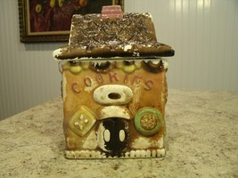 Rare Vintage Mid Century HTF Royal Sealy Cookies House Design Cookie Jar... - $42.08