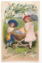 Easter Children Applied Silk Dresses Hats Girls Eggs Vintage Novelty Pos... - $5.69