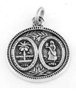 STERLING SILVER SOUTH CAROLINA STATE SEAL CHARM/PENDANT - $9.35