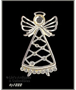 Eisenberg Ice Signed Angel Pin Silver Tone with Rhinestones (Inventory #... - $48.00