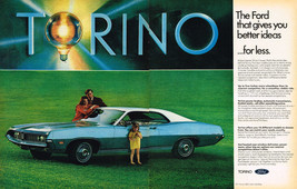 Vintage 1971 2-Page Magazine Ad Ford Torino Gives You Better Ideas For Less - $5.93