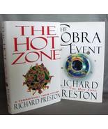 Robert Preston Medical Thrillers Best Sellers Hot Zone~Cobra Event First... - $12.00