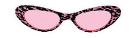 Pink or Gold Retro Leopard Print Glitter Cat Eye SUNGLASSES pin up 60s mod - $11.99