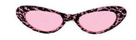 Pink or Gold Retro Leopard Print Glitter Cat Eye SUNGLASSES pin up 60s mod - $15.78 CAD