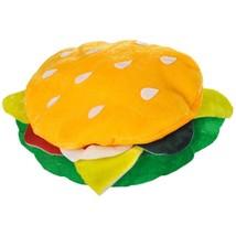 Adult Unisex Yellow Plush HAMBURGER HAT Patty & Bun fun food festival OS - $17.83 CAD