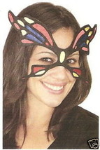Colorful Fabric BUTTERFLY MASQUERADE PARTY EYE MASK fairy costume halloween - €5,08 EUR